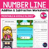 Number Line Addition and Subtraction Worksheets Google Slides™ Distance Learning