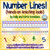 Number Lines! {hands-on teaching tools}