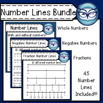 Number Lines Bundle - Personal or Commercial Use