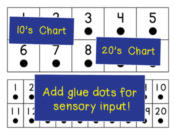 Number Lines/Charts with Dots