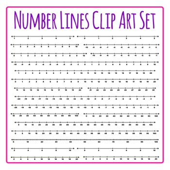 Number Lines Clip Art Set for Commercial Use  22 Graphics!