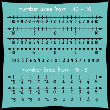 Integer Number Lines Clipart