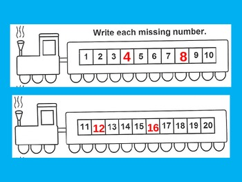 Number Lines Counting Order of Numbers to 50 for Visual Learners