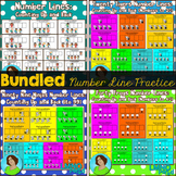 Number Lines Counting Up and Back BUNDLE (First Grade)
