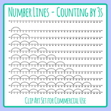 Number Lines - Counting by Threes or Multiplication by 3s