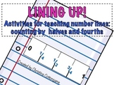 Number Lines: Counting by halves and fourths