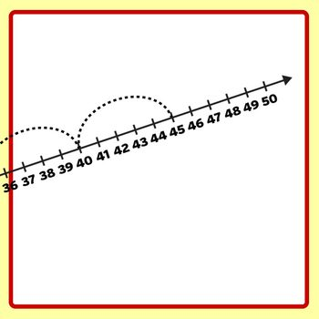 Number Lines - Dashed Counting by Fives or Multiplication by 5s Skip Counting