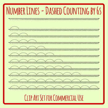 Number Lines - Dashed Counting by Sevens or Multiplication by 7s Skip Counting