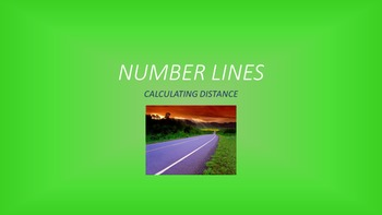 Number Lines: Distance between Points