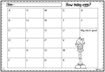 Number Lines Easter Theme