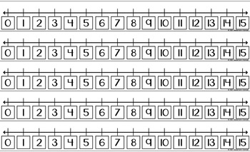 Number Lines {Fewer #s Per Line)