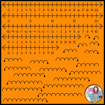Number Lines For Counting Clip Art
