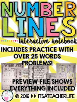 Number Lines | Interactive Notebook