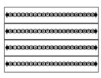 Number Lines - Manipulative