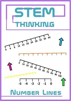 Number Lines Math Counting Clip Art Illustrations