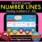 Number Lines - Missing Numbers 0-100 Boom Cards