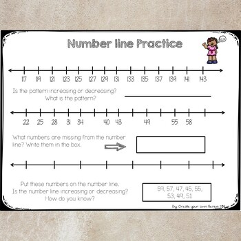 Number Lines Practice and Mini Lesson