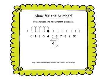Number Lines - Show Me The Number K-1