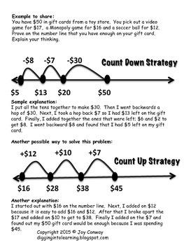 Number Lines Subtracting