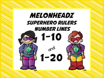 Number Lines Superhero Ruler Melonheadz
