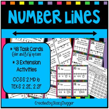 Number Lines Task Cards