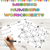 Number Lines and Missing Number Math Sheets Common Core Aligned