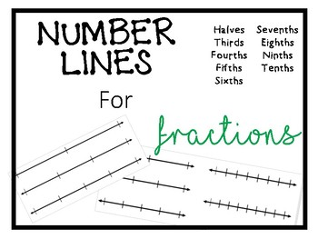 Number Lines for Fractions