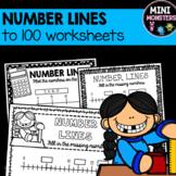 Number Lines to 100 Worksheets