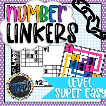 Number Linkers-Level: Super Easy; 10 5x5 Puzzles! Brain Teasers