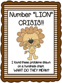 """Number """"Lion"""" Crisis!  Relating Number lines to a hundreds chart"""