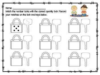 Number Locks Response Sheet
