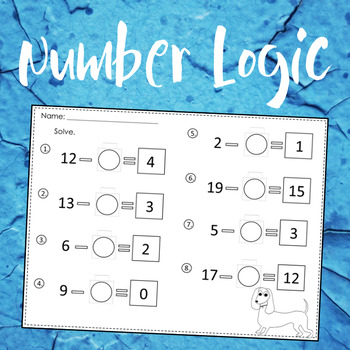 Number Logic With Pictures & Numbers