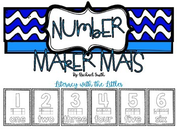 Number Maker Mats {Fine Motor Skills Fun}
