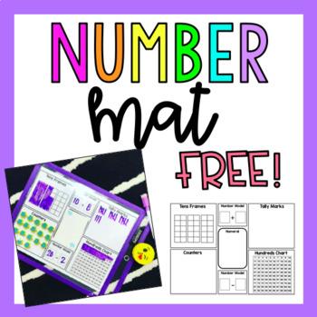 Number Mat Math Activity (FREE)
