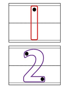 Number Mat Printables (Quantity and Traces)