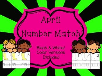 Number Match 1-10 {April}