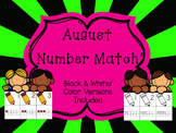 Number Match 1-10 {August}