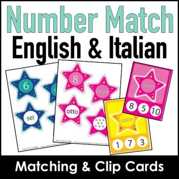 Number Match 1-10 (English & Italian)