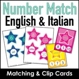 Number Recognition Matching and Clip Card Activity in English and Italian
