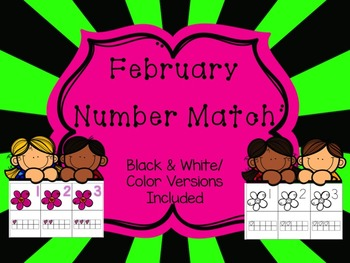 Number Match 1-10 {February}