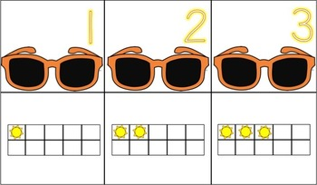 Number Match 1-10 {July}