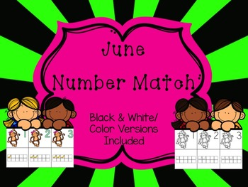 Number Match 1-10 {June}