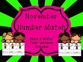 Number Match 1-10 {November}