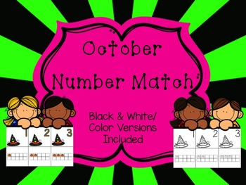 Number Match 1-10 {October}