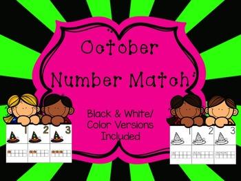 Number Match 1-10 {October}