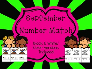 Number Match 1-10 {September}