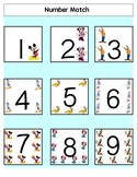 Number Match (1-9) File Folder Games EASY for Autism