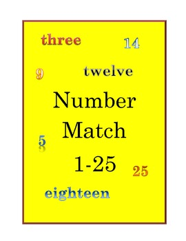 Number Match 1 to 25