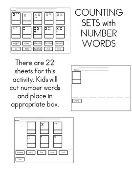 Kindergarten Numbers Activities Set