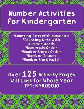 Kindergarten Numbers Activities Set